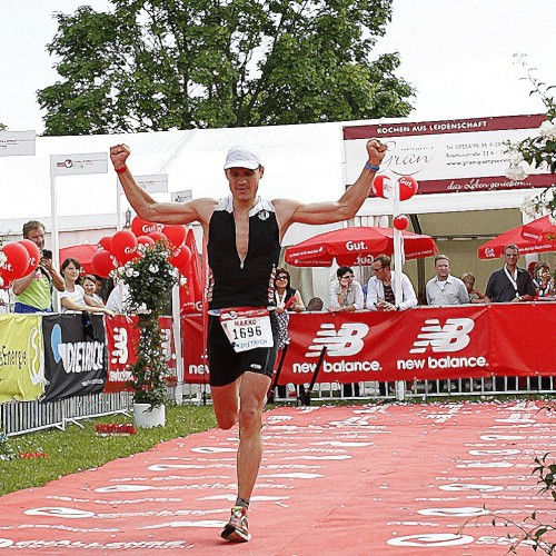 Zieleinlauf Triathlon Mitteldistanz Kraichgau 2013