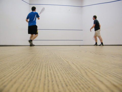 Squash Spielsituation